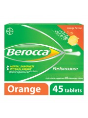 Berocca Performance Vitamin B Effervescent, Orange, 45 Tablets, Pack o ...
